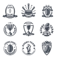 Rugby team badges and logos vector image
