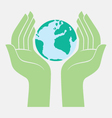 save the earth protected by hands vector image vector image