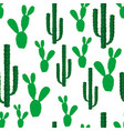 seamless backgrounds with cactus flowers vector image vector image