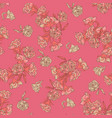 seamless floral texture chinoiserie pattern vector image