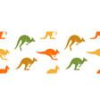 seamless pattern with kangaroo logo vector image