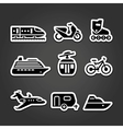 Set simple transportation icons vector image