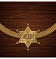 Sheriff Badge Design vector image vector image