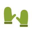 snow gloves icon vector image