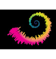 Spiral rainbow waveform vector image