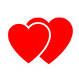 two hearts web icon vector image