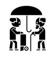 umbrella protection icon vector image