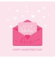 Valentine s day Receiving or sending vector image vector image