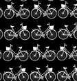 Vintage bicycles seamless pattern black and white vector image vector image