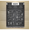 Vintage chalk drawing cocktail menu design vector image vector image