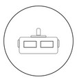 virtual reality helmet the black color icon in vector image vector image