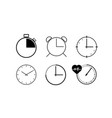 watch collection vector image vector image