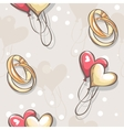wedding seamless texture with hearts and balloons vector image