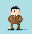 worker with elegant clothes vector image vector image