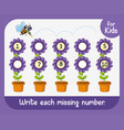 write each missing number vector image vector image