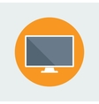 Computer Monitor Flat Icon vector image
