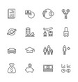 insurance icon set line icons vector image