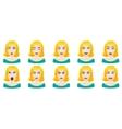 Emotions female face set vector image