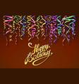happy birthday sign design background birthday vector image