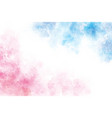 2 tones blue and pink watercolor wash splash vector image vector image