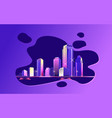 abstract city spot vector image vector image
