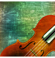 abstract music grunge vintage background violin vector image vector image