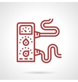 Amplifier red line icon vector image vector image