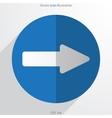 arrow web flat icon vector image vector image