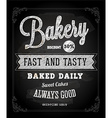 Bakery Advertising on Chalkboard vector image vector image