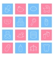 balines icons set vector image