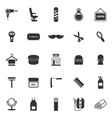 barber icons on white background vector image