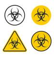 biohazard warning safety icon shape biological vector image vector image