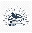 black downloads singing bird vector image