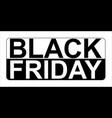 black friday sale banner modern minimal design vector image