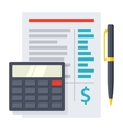 Budgeting Icon vector image vector image