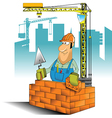 builder cartoon vector image vector image