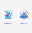 business and finance concept icons receiving vector image vector image