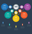 business presentation or infographic with five vector image vector image