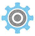 cogwheel composition of small circles vector image