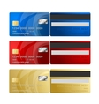 Credit Card two sides vector image vector image
