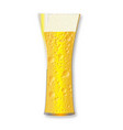 curved beer glass vector image vector image