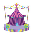 cute circus tent icon vector image vector image