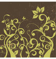 decorative floral grunge vector image vector image