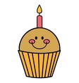 delicious cupcake sweet pastry vector image vector image