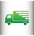Delivery sign Green gradient icon vector image