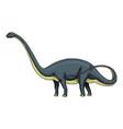dinosaur brachiosaurus or sauropod plateosaurus vector image vector image
