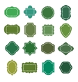 Eco green natural organic product badges vector image