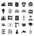 electrician icons set simple style vector image vector image