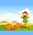 farm harvest scene vector image