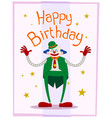 fat clown birthday greeting vector image